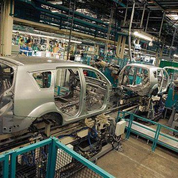 Holandsko – automobilka Mitsubishi, usazování výrobní linky